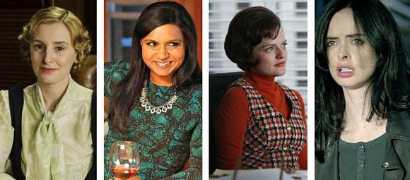 Mulheres de séries - Edith Crowley, Mindy Lahiri, Peggy Olsen, Jessica Jones