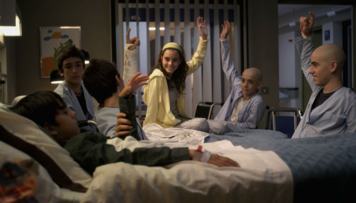 O grupo de amigos do Hospital Miramar.