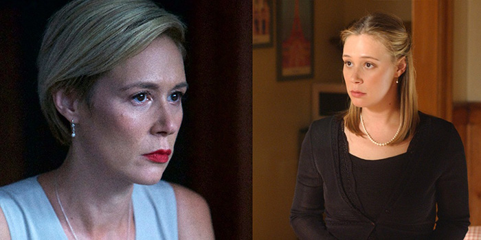 Liza Weil em How To Get Away With Murder (esq.) e Gilmore Girls (dir.)