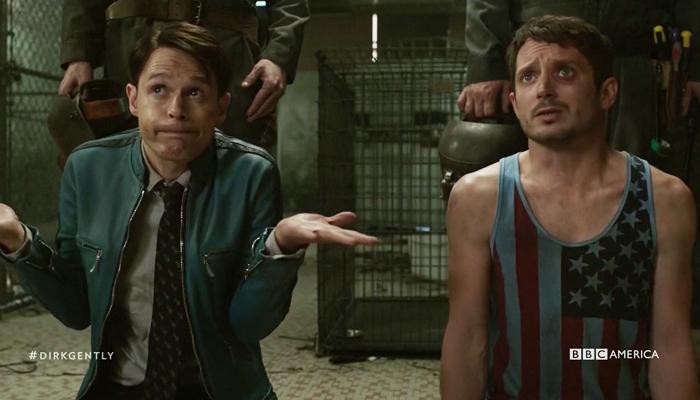 Dirk Gently 1x06 Dirk e Todd são interrogados por Gordon