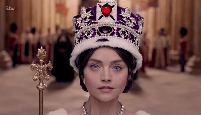 Victoria durante sua coroação
